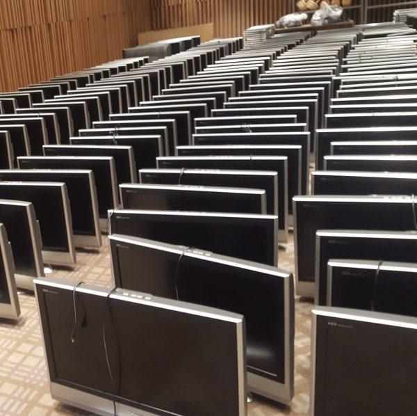 ホテルの液晶テレビ約400台分の買取【京都府】